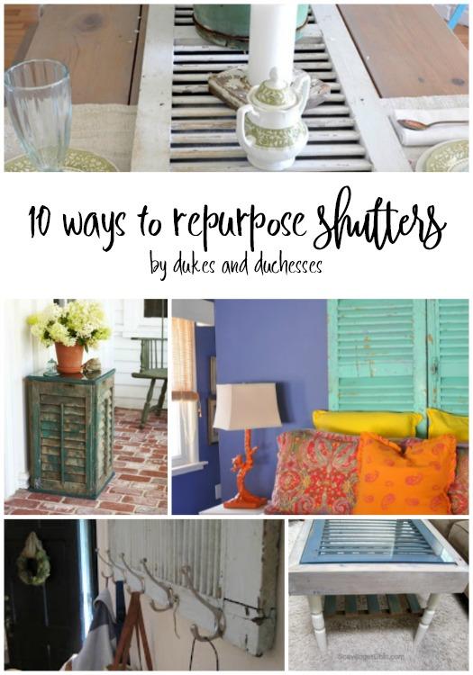 10 ways to repurpose shutters