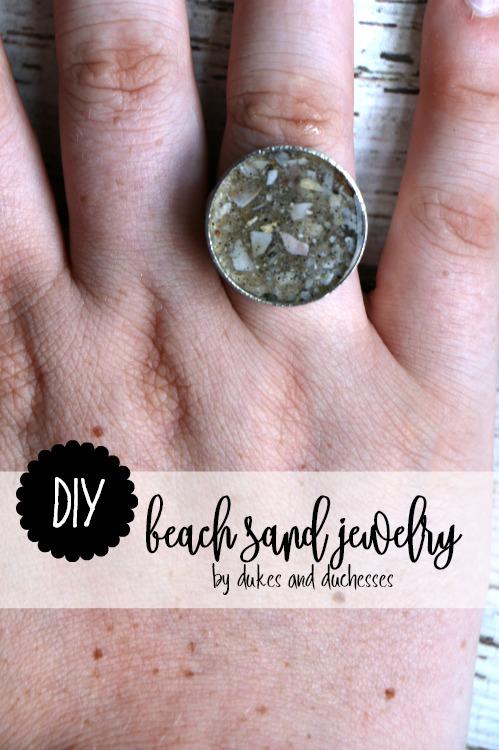 DIY beach sand jewelry