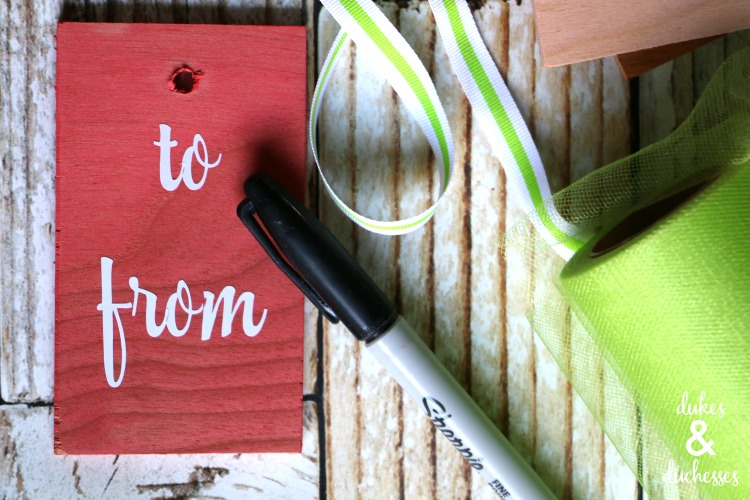 DIY wood gift tags