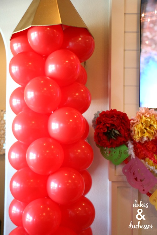 balloon turret for elena of avalor party