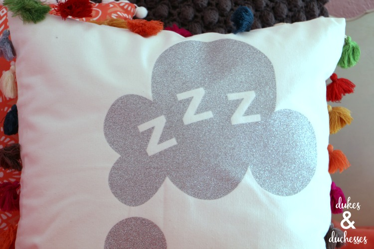 glitter dream pillow