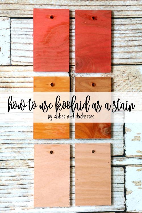 how to use koolaid as a stain