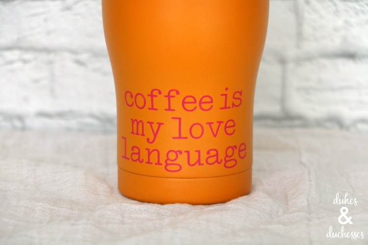 love language personalized coffee mug