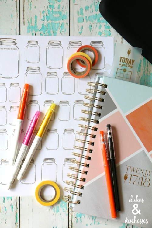 mason jar planner stickers