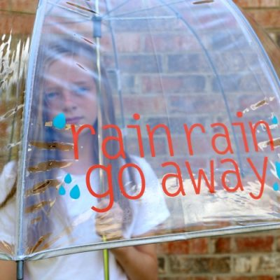 Personalized Clear Dome Umbrella