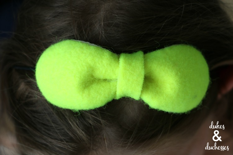 repurposed tennis ball headband