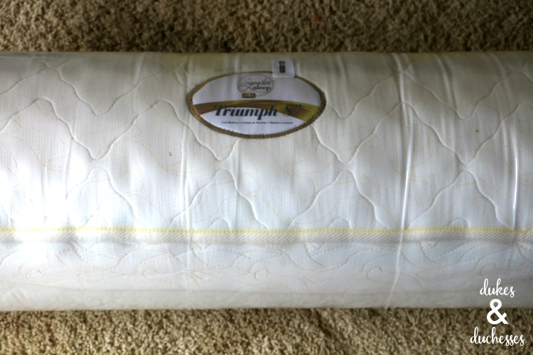 rolled mattress