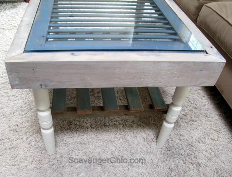 shutter coffee table