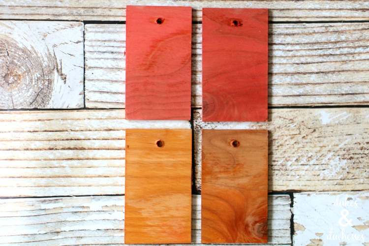 wood stained with koolaid