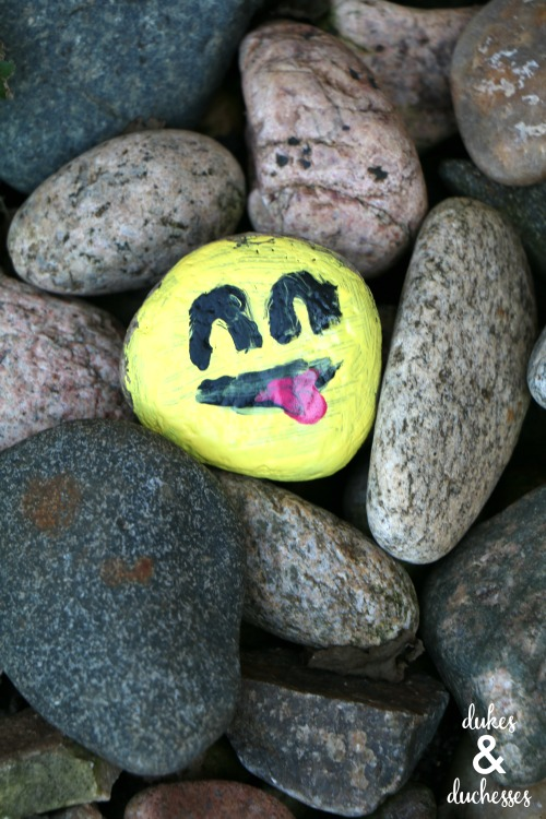 emoji kindness rock