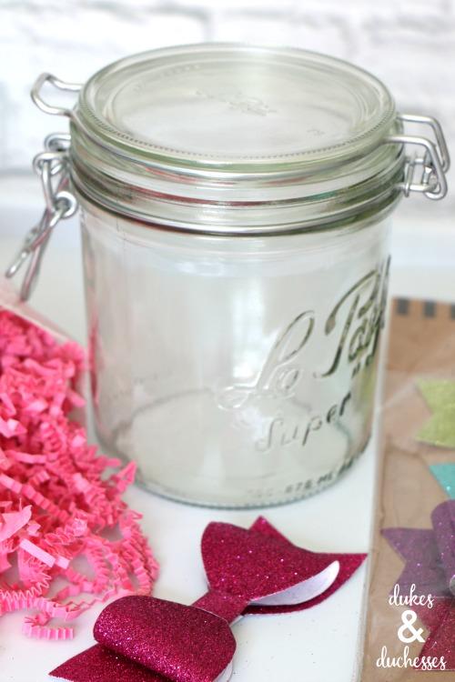 glitter gift idea for girls