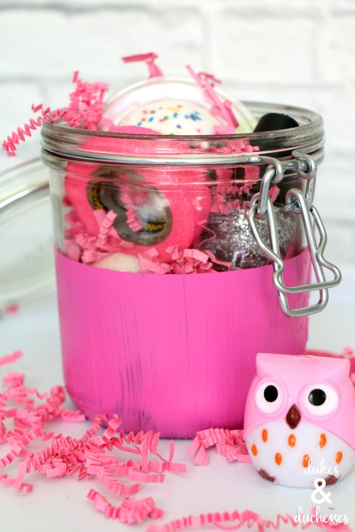 glitz and glam gift in a jar for girls