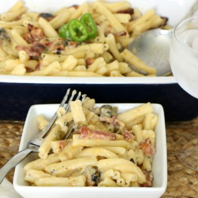 Hatch Chile Bacon Mac and Cheese