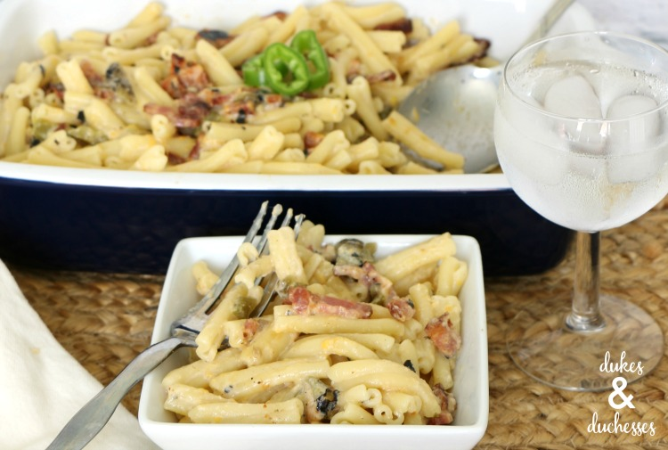 hatch chile mac and cheese recipe with bacon