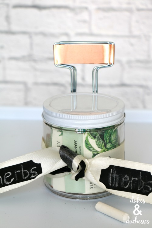 herb garden gift in a jar