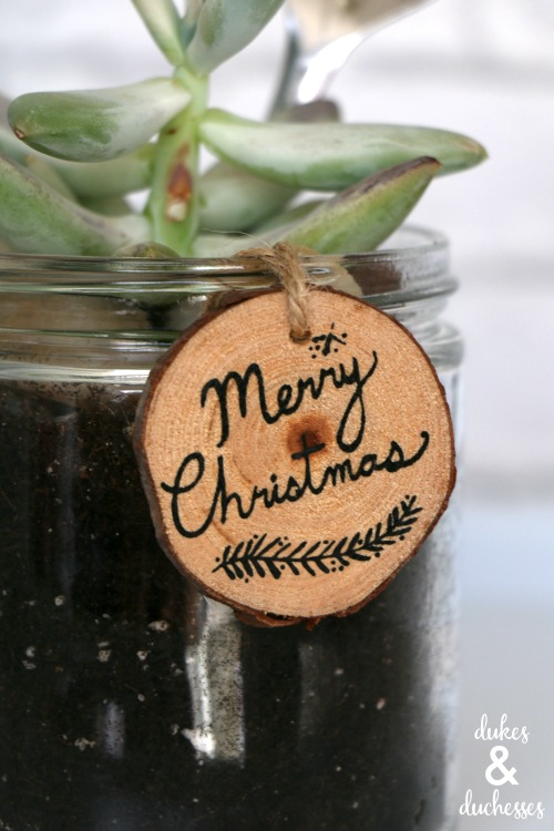 rustic gift tag for christmas mason jar gift