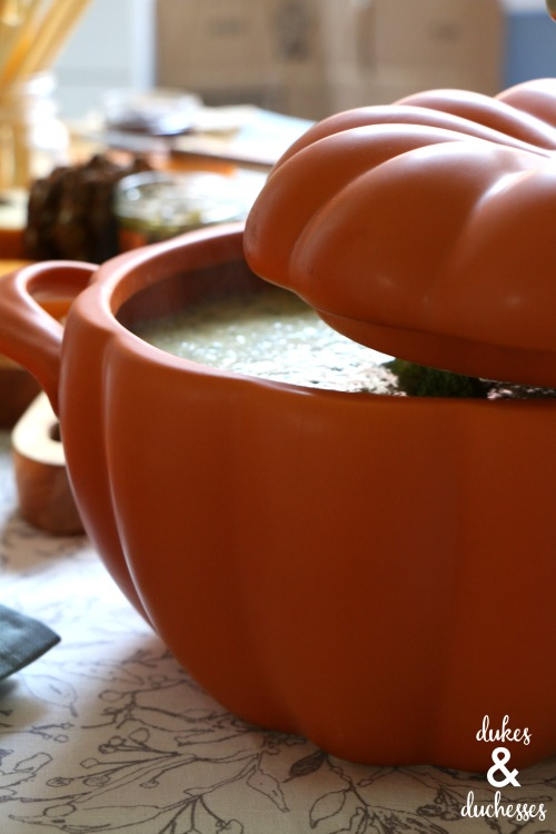 soup bowl for fall entertaining