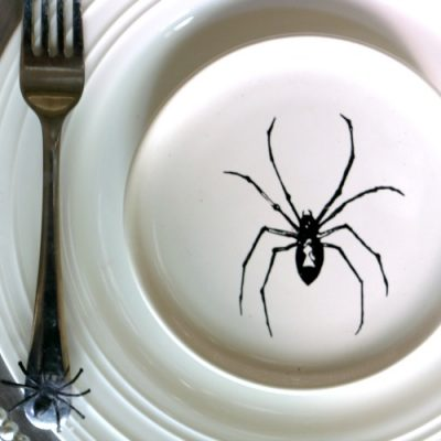 Stylish Spider Halloween Tablescape