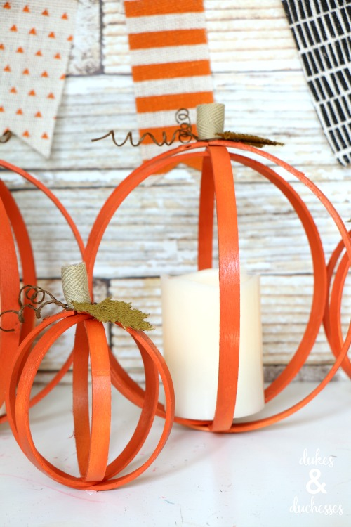 DIY repurposed pumpkins for fall
