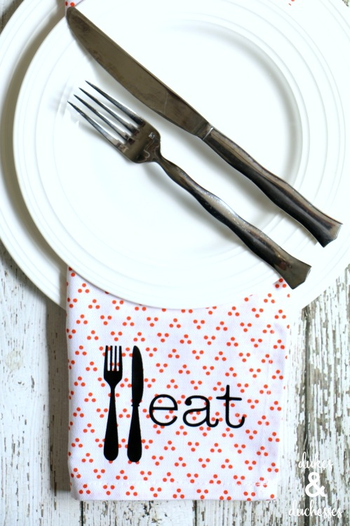 custom cloth napkins with text