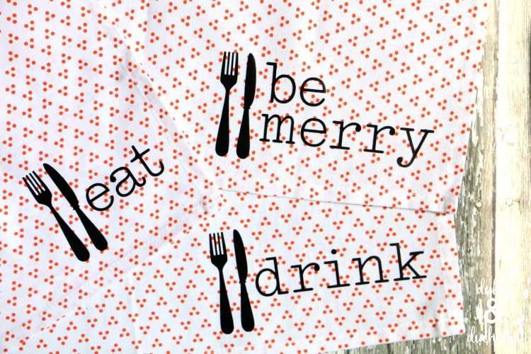 customized DIY cloth napkins