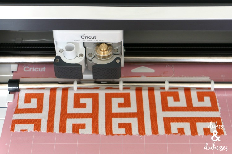 cutting fabric with fabric grip mat