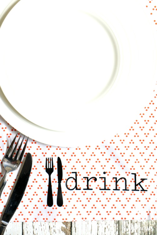 eat drink and be merry napkins