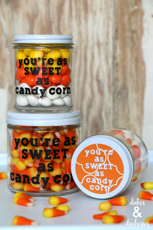 halloween candy gift jar