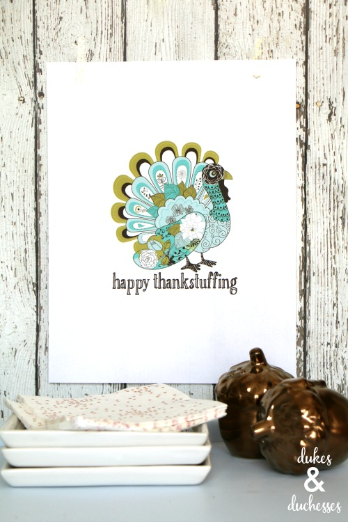 happy thankstuffing printable for thanksgiving