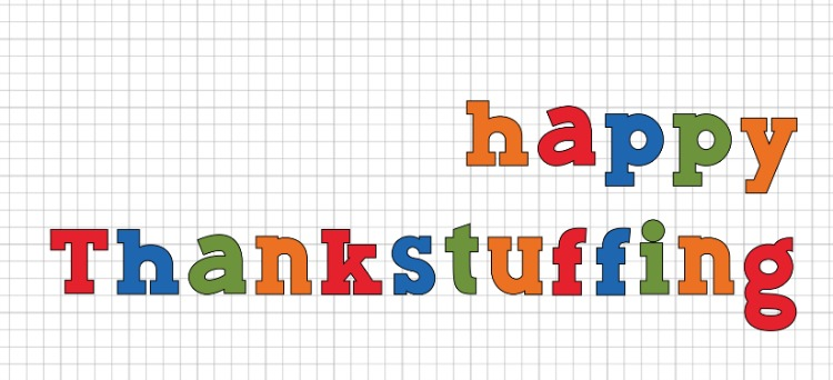 happy thankstuffing sign cricut tutorial