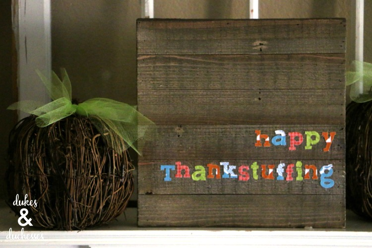 happy thankstuffing sign