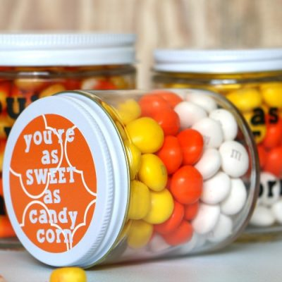 Candy Corn Halloween Gift Jar