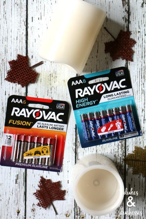 rayovac batteries for fall decor