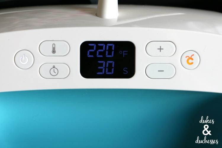 settings on cricut easypress heat press