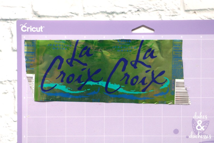 upcycled la croix cut with cricut explore air 2