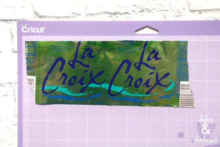 upcycled la croix cut with cricut explore air 2
