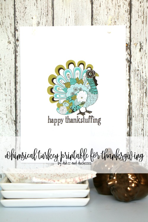 Whimsical Turkey Printable by Randi Dukes