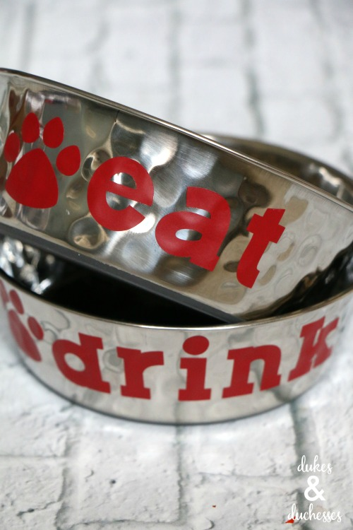 DIY personalized dog dishes