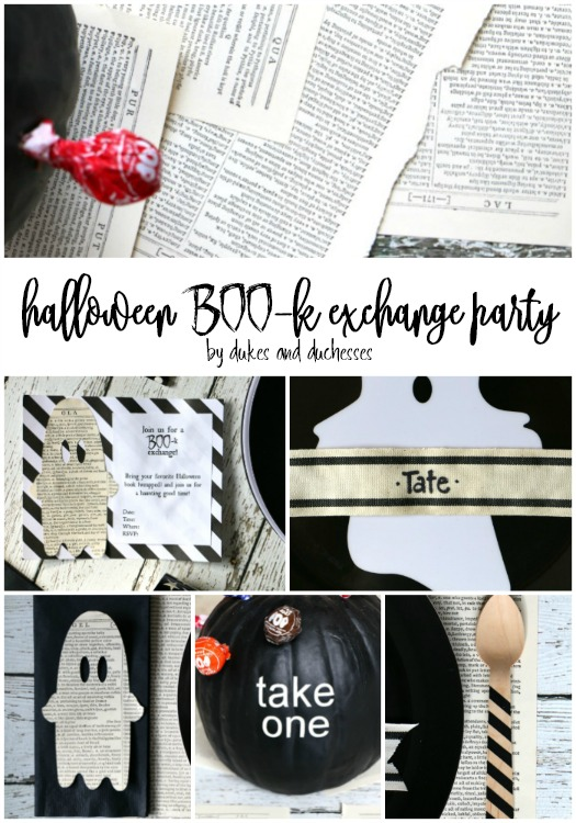 halloween book exchange party idea