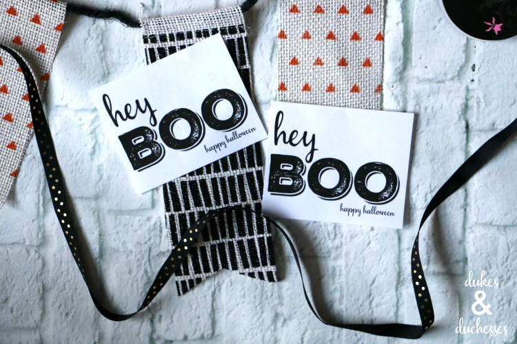 hey boo care package printable