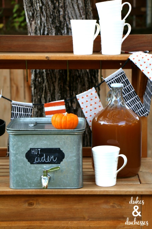 hot apple cider bar