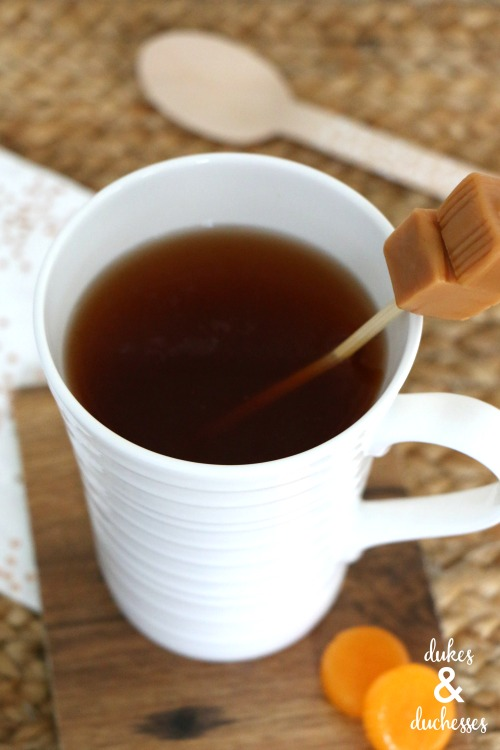 hot cider with butterscotch