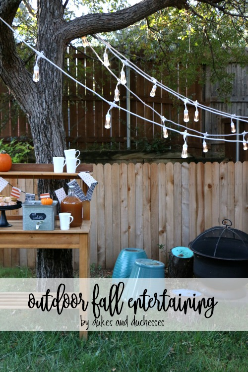 outdoor fall entertaining