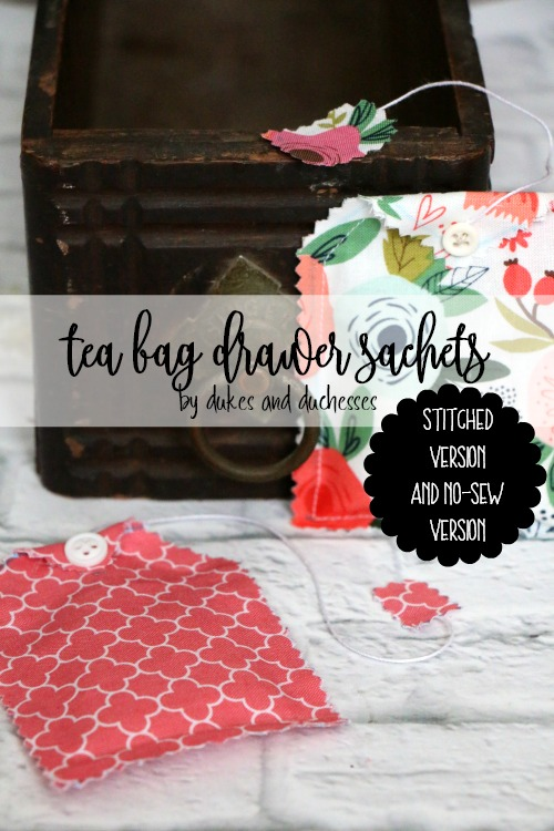 tea bag drawer sachets