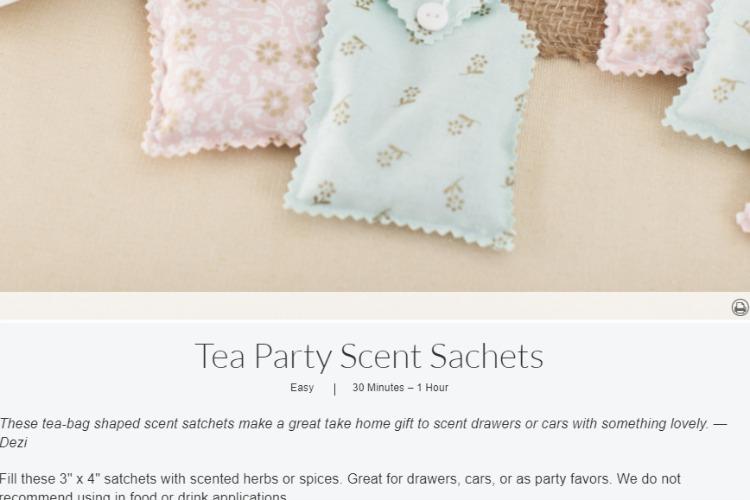 tea bag sachet