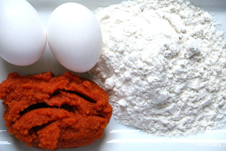 three ingredient easy pumpkin dog biscuits