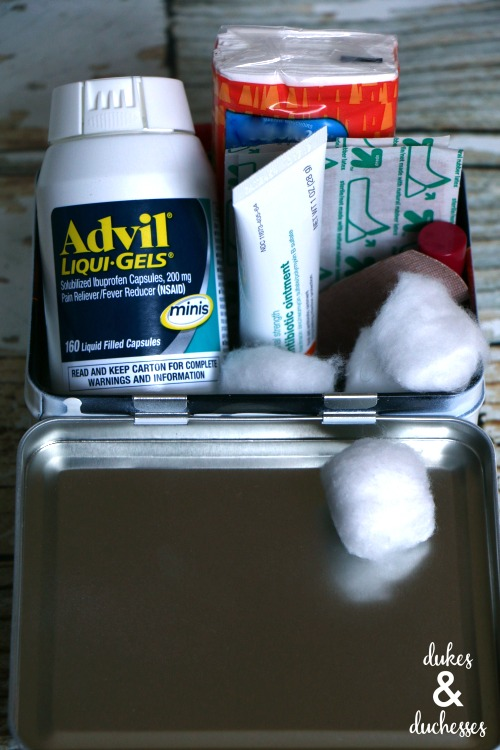 what to put in a dorm room first aid kit