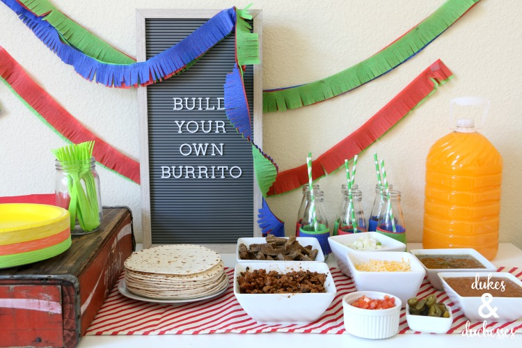 build your own breakfast burrito bar