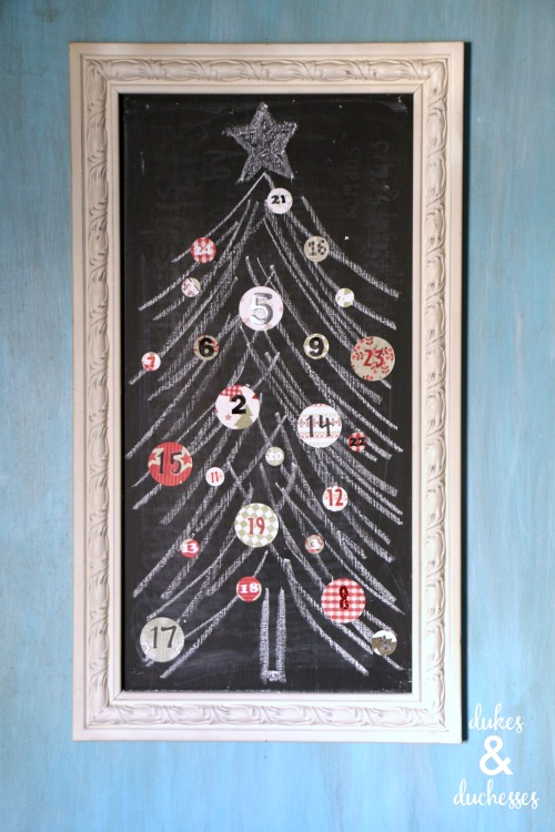 chalkboard christmas countdown with scripture readings