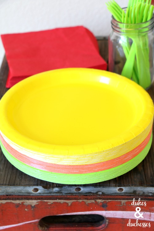 colorful fiesta partyware
